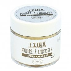 10132 Puder do embossingu Izink 3D  - Relief Opaline