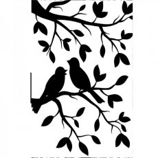 1219-102  Embossing Folders ? Birds Branch