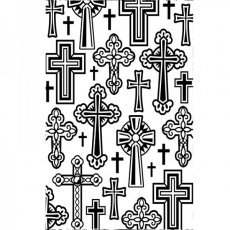1219-106  Embossing Folders - Crosses Folder
