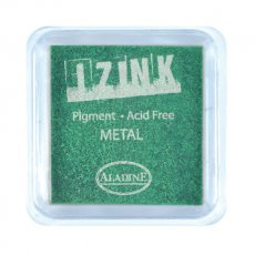 19131 Izink Pigment  -Tusz pigmentowy-Metal Light Green 5 x 5 CM