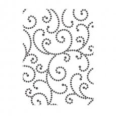 30008380 Embossing Folder Darice -Gem Swirls Background-kryształkowe zawijaski