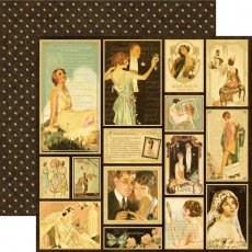 4500166 Papier Graphic45-Le Romantique Collection -30,5x30,5cm- Sweetheart of Mine
