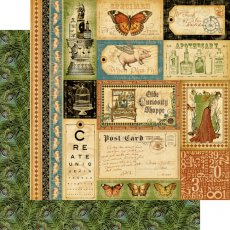 4500435 Papier Graphic45-Olde Curiosity Shoppe Collection -30,5x30,5cm-Bazaar of Wonders