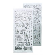 61.8466  Naklejki peel-off Winter Scenery Stickers Pearl Silver