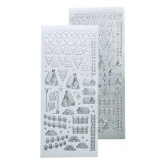 61.8480 Naklejki peel-off Winter Scenery Stickers Pearl Silver