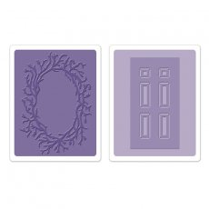 658430 Foldery do embossingu- Door & Wreath Set
