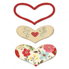 658923 Wykrojnik Sizzix Bigz - Hearts, True Affections
