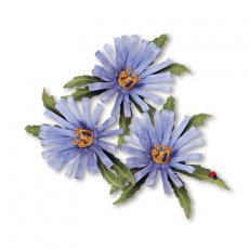 659255 Thinlits Die Set 8PK - Flower, Aster