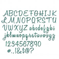 662228 Wykrojniki Sizzix Thinlits-Script, Upper & Lower by Tim Holtz-alfabet