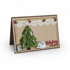 662281 Wykrojniki Sizzix  Thinlits-Christmas Tree,Choinka Flip/Fold