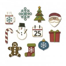 662418 Wykrojniki Sizzix Thinlits-Mini Christmas Things