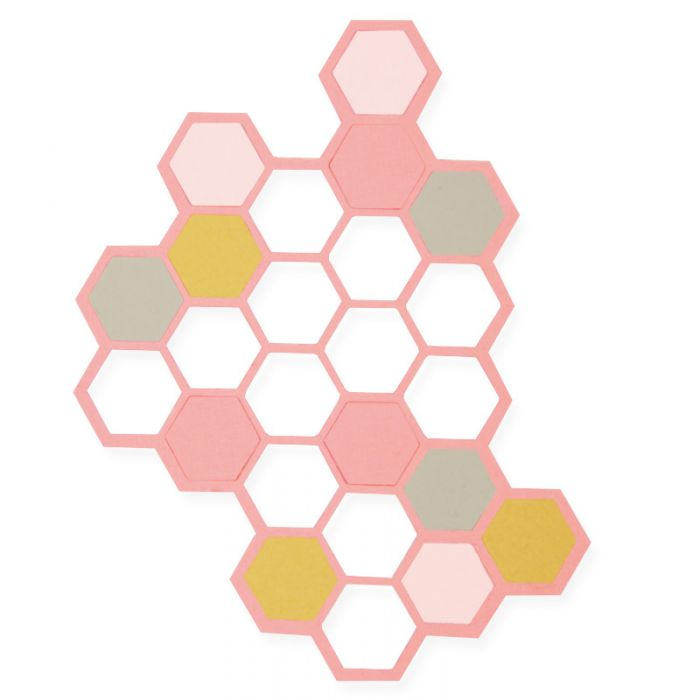 662517 Wykrojnik Sizzix Thinlits-Hexagons
