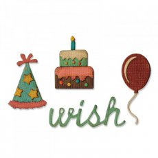 662703 Wykrojnik Sizzix Thinlits Mini+Mini embossing folder-Birthday