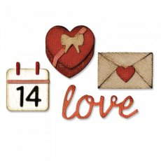 662710 Wykrojnik Sizzix Thinlits Mini+Mini embossing folder-Valentine
