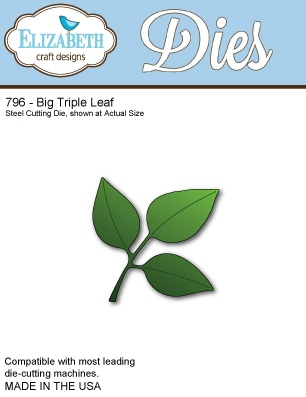 796 Wykrojnik Elizabeth Craft Designs - Big Triple Leaf
