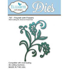 797 Wykrojnik Elizabeth Craft Designs - Flourish with Flowers