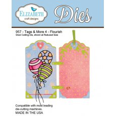 957 Wykrojniki Elizabeth Craft Designs - Tag & More 4-Flourish