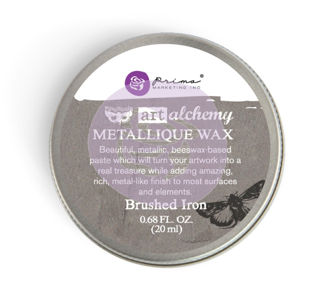 964009 Wosk metaliczny Art Alchemy- Metalique Wax - Finnbair - Brushed Iron