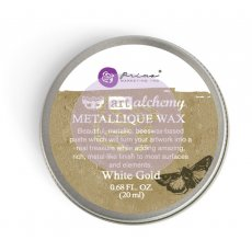 964016 Wosk metaliczny Art Alchemy- Metalique Wax - Finnbair -White Gold