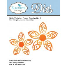 965 Wykrojniki Elizabeth Craft Designs -  Victorian Flower Overlay Set 1