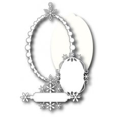 98716 Wykrojnik  Peaceful Snowflake Frame Set