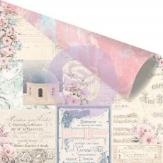 994112 Papier dwustronny metaliczny Prima 30,5x30,5cm-SANTORINI- Mix and Match