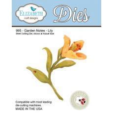 995 Wykrojniki Elizabeth Craft Designs - Garden Notes Lily