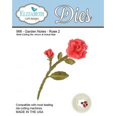998 Wykrojniki Elizabeth Craft Designs -  Garden Notes - Rose 2