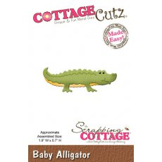 CC-003 Wykrojnik krokodyl -CottageCutz Baby Alligator