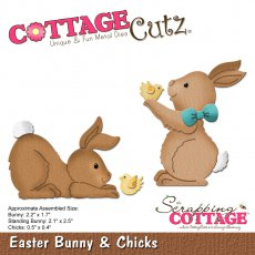 CC-235 Wykrojnik CottageCutz Easter Bunny & Chicks