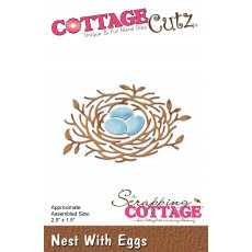 CC-238 Wykrojnik CottageCutz Nest With Eggs-gniazdko