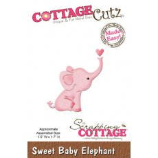 CC-MINI-163 Wykrojnik słonik-CottageCutz Sweet Baby Elephant Mini