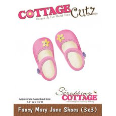 CC3x3-104 Wykrojnik CottageCutz Fancy Mary Jane Shoes (3x3)