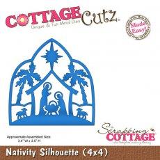 CC4x4-422 Wykrojniki CottageCutz Nativity Silhouette (4x4)