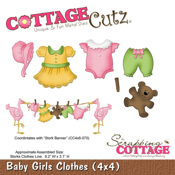 CC4x4-496 Wykrojnik Baby Girls Clothes (4x4)