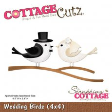 CC4x4-572 Wykrojnik CottageCutz Wedding Birds (4x4)