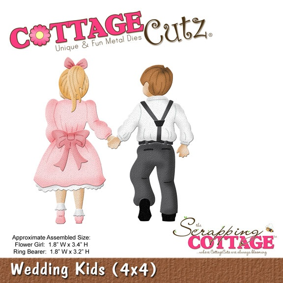 CC4x4-577 CottageCutz Wedding Kids (4x4)