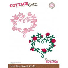 CC5x5-006 Wykrojnik Heart Rose Wreath