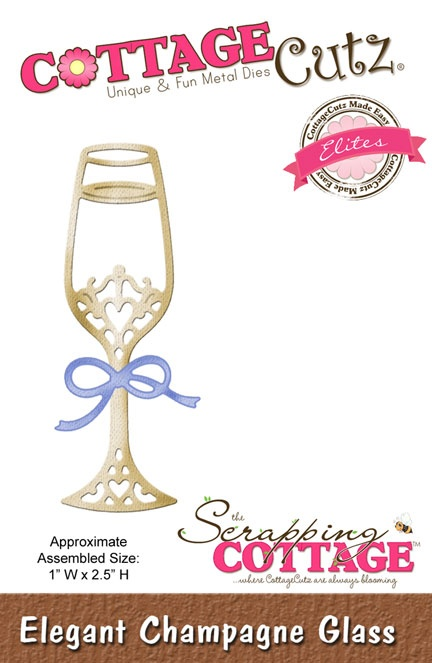 CCE-131 Wykrojnik CottageCutz Elegant Champagne Glass (Elites)