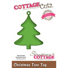 CCE-199 Wykrojnik choinka-tag-CottageCutz Christmas Tree Tag (Elites)