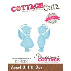 CCE-319 Wykrojniki CottageCutz Angel Girl & Boy (Elites)