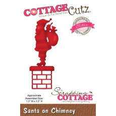 CCE-333 Wykrojniki  CottageCutz  Santa on Chimney (Elites)