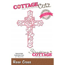 CCE-459 Wykrojnik CottageCutz Rose Cross (Elites)-krzyż