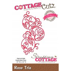 CCE-460 Wykrojnik CottageCutz Rose Trio (Elites)