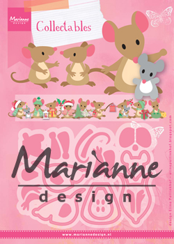 COL1437 Marianne Design Collectable - Eline\'s mice family-myszki