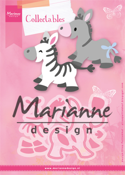 COL1447 Marianne Design Collectable -zebra i osiołek