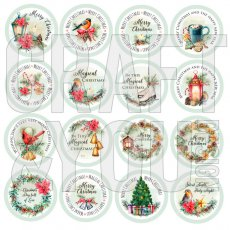 CP-CV11 Elementy die-cuts- 30,5x30,5 Christmas Vibes -wersja po angielsku