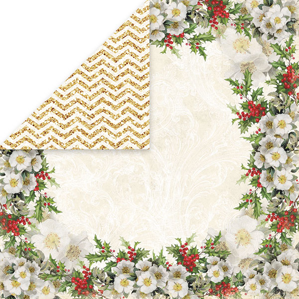CP-WC01 Papier dwustronny Craft&You Design 30,5x30,5 White Christmas 01
