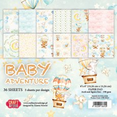 CPB-BA15 Bloczek 15x15 Craft&You Design-Baby Adventure