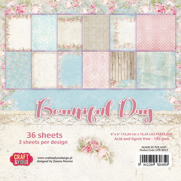 CPB-BD15 Bloczek 15x15 Craft & You Design Beautiful Day